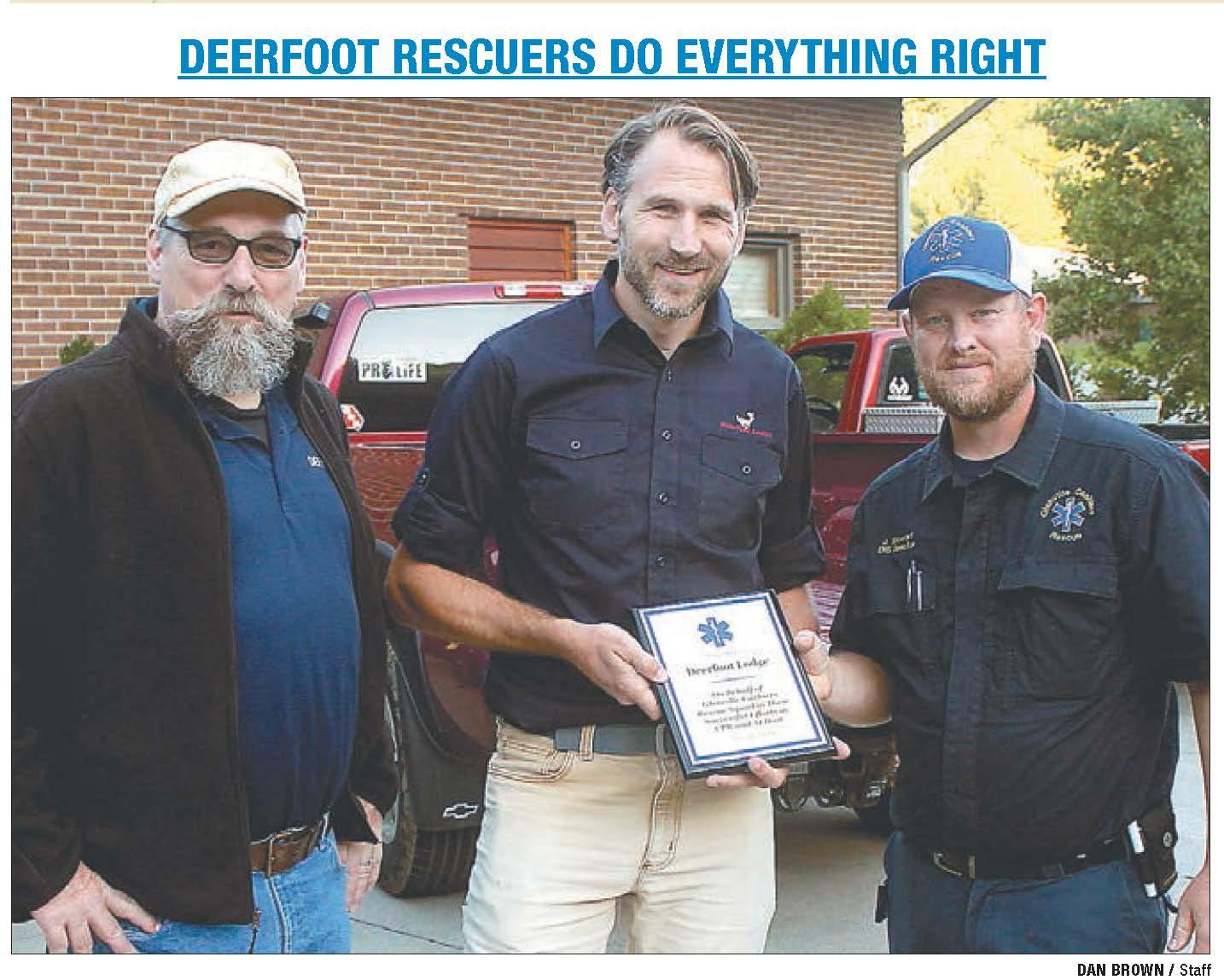 Deerfoot Blue Ridge Rescue Recognized